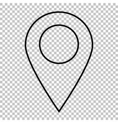 Mark line icon vector