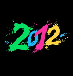 new year 2012 vector image vector image
