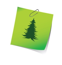 reminder with pine tree green vector image vector image