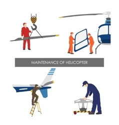 Repair and maintenance of helicopter vector