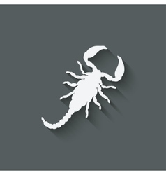 scorpion design element vector image