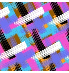 seamless bold plaid pattern vector image vector image