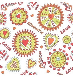 Seamless Romantic Pattern for Valentine s Day vector image