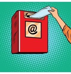 Sending paper letters inbox vector
