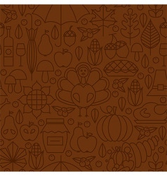 Thin line holiday thanksgiving day brown seamless vector