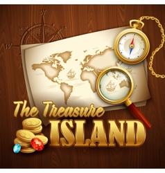 Treasure island template vector