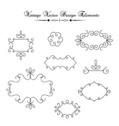 vintage decorations elements vector image vector image