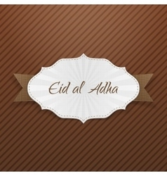 Eid al-adha greeting paper tag vector