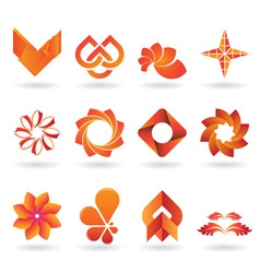 Orange logo set vector