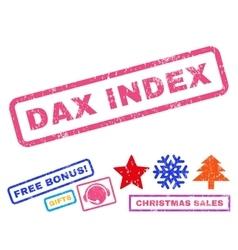 Dax index rubber stamp vector