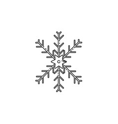 Thin line snow flakes icon vector