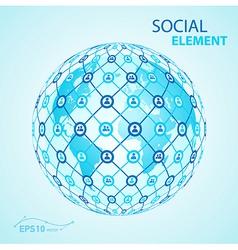 social element globe worldwide vector image