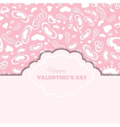 Happy valentines day cards with hearts and frame vector