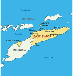 East timor - map vector