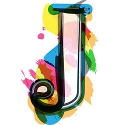 Artistic Font - Letter J vector image