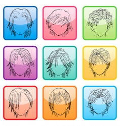 hairstyle set vector image