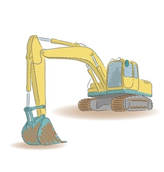 Excavator isolated on white background vector