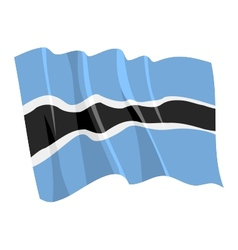 political waving flag of botswana vector image
