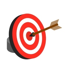 Arrow hit the target icon isometric 3d style vector