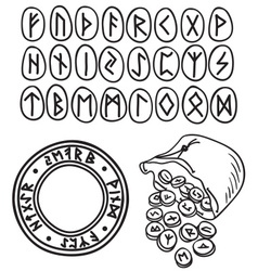 Ancient runes drawing vector