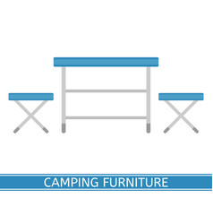 camping furniture icon vector image vector image