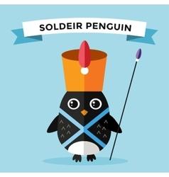 Cartoon penguin character vector image