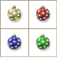 Christmas Decoration Balls vector image