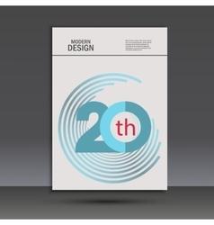 Color line twirl design cover template vector