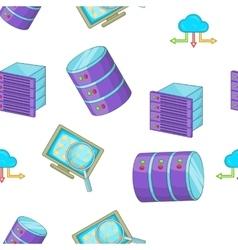 Computer data pattern cartoon style vector