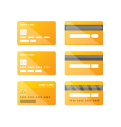 credit card icon set isolated vector image vector image