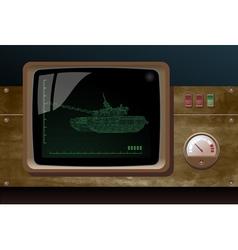 display of radar vector image vector image