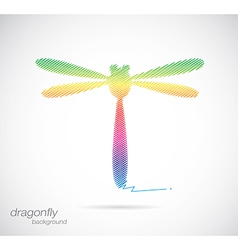 Dragonfly abstract vector image