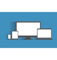 Electronic devices with blank screens Desktop vector image