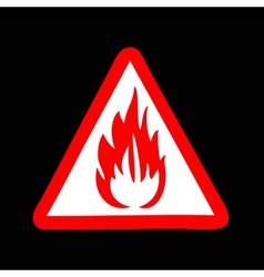 Fire symbol sign vector