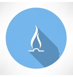 Gas flame icon vector