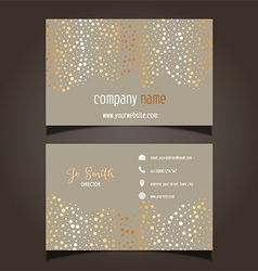 gold stars business card layout 0605 vector image vector image