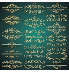 Golden royal luxury dividers frames vector