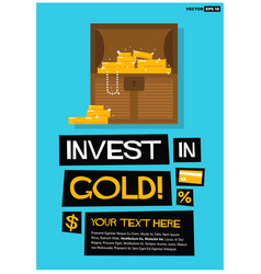 invest in gold vector image vector image