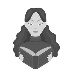 Librarian icon in monochrome style isolated on vector