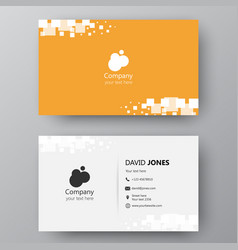 modern presentation card with company logo vector image