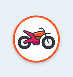 offroad bike motorcycle icon vector image vector image