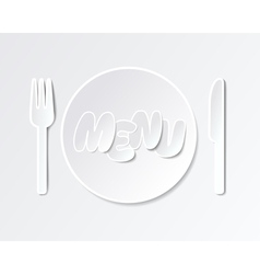 Paper tableware background for menus vector