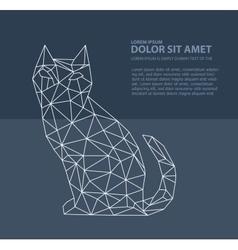 Print polygonal cat vector