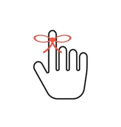 Reminder icon with outline black hand vector