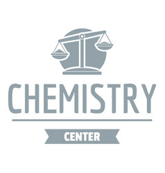 Research lab logo simple gray style vector