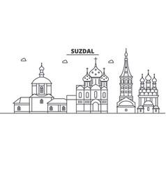 russia suzdal architecture line skyline vector image