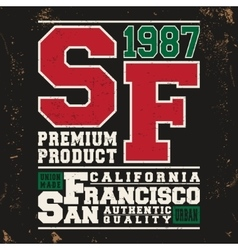 San francisco vintage stamp vector