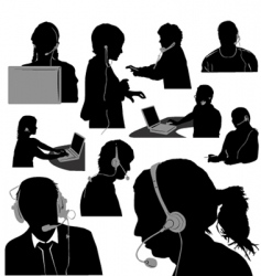 secretary and call center vector image vector image