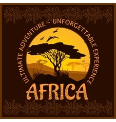 South africa - unforgettable trip vector