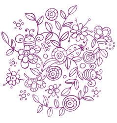 spring ornament background vector image vector image